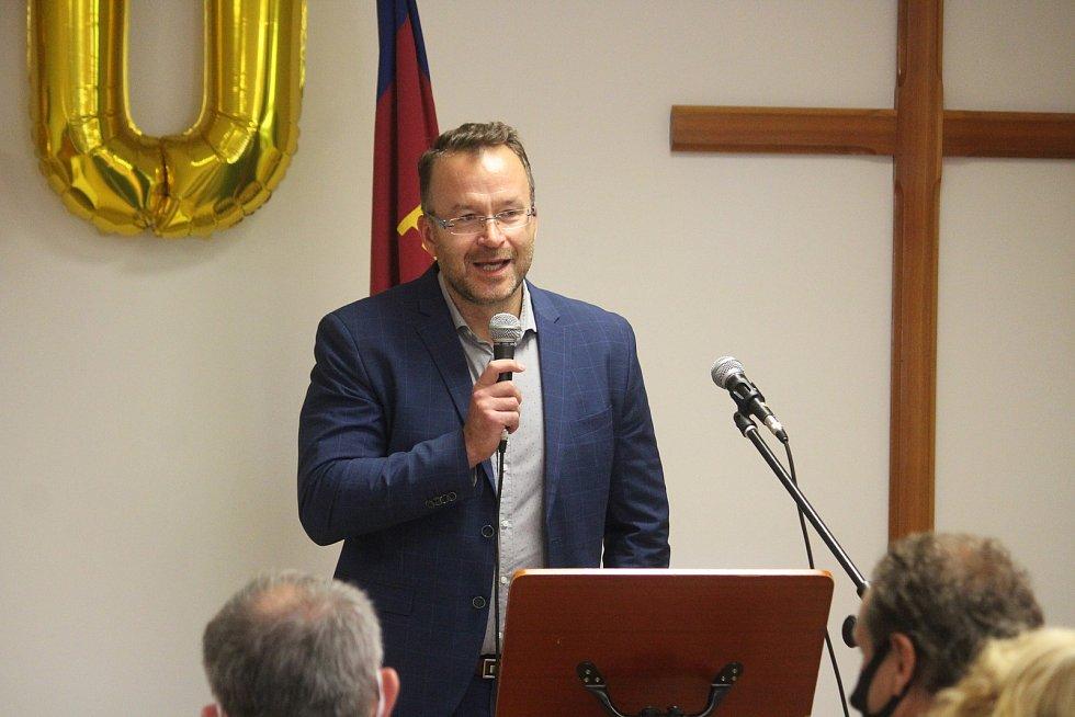 Armáda spásy v Opavě slaví dvacet let své činnosti. Náměstek primátora Igor Hendrych. Opava, 10. září, 2021.
