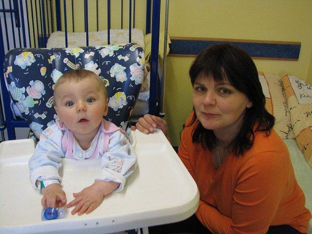 Ivona Macošková a její šestiměsíční Lukášek jsou na dětském oddělení opavské nemocnice hospitalizováni spolu.