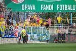 Transparent, který vytáhli fanoušci fotbalové Opavy v průběhu sobotního utkání 2. kola FORTUNA:LIGY s Příbramí.