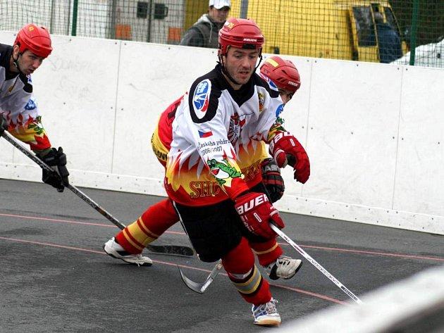 Zkušený útočník Petr Vehovský opět opavský tým táhl. V sobotu otevřel skóre utkání.