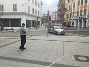 Horní náměstí v Opavě bylo uzavřeno kvůli nálezu neznámého předmětu.