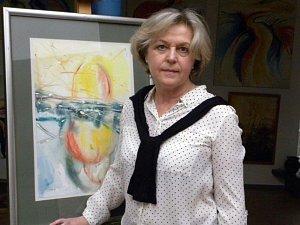 Irena Stanislavová ve svém ateliéru.