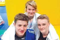 Opavské judo v Rakousku. Adam Sieber, Bětka Škrobánková a Jan Petzuch.