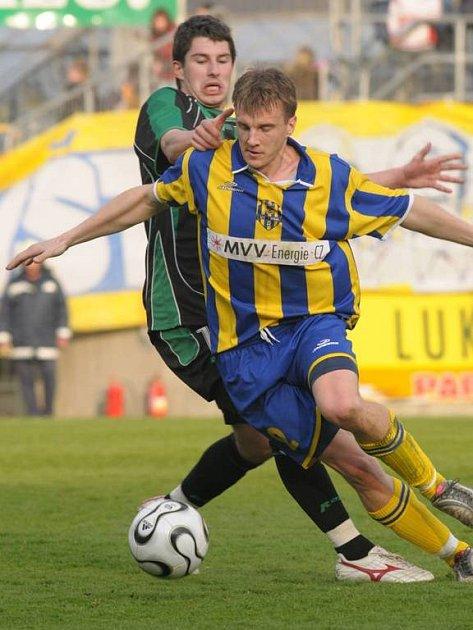 Obránce Slezského FC Opava Radek Mezlík.