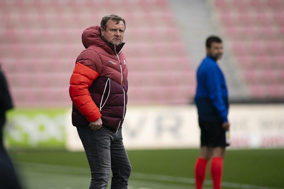 Praha - Zápas fotbalové FORTUNA:LIGY mezi AC Sparta Praha a SFC Opava 25. dubna 2021. Trenér AC Sparta Praha Pavel Vrba.