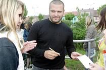 Slovenský raper Rytmus při natáčení filmu Bastardi.