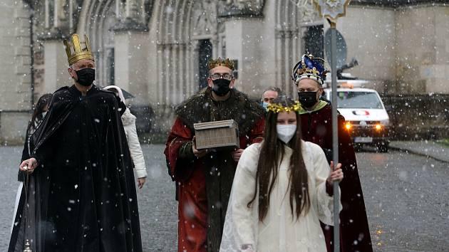 Tří králová koleda v době pandemie. Olomouc.