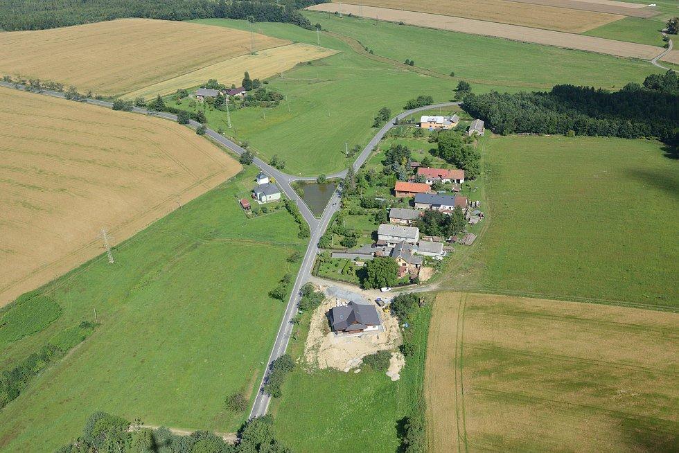 Letecký pohled na Větřkovice.