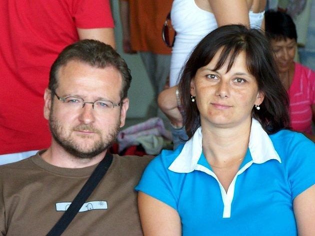 Karel Kekelák s manželkou.