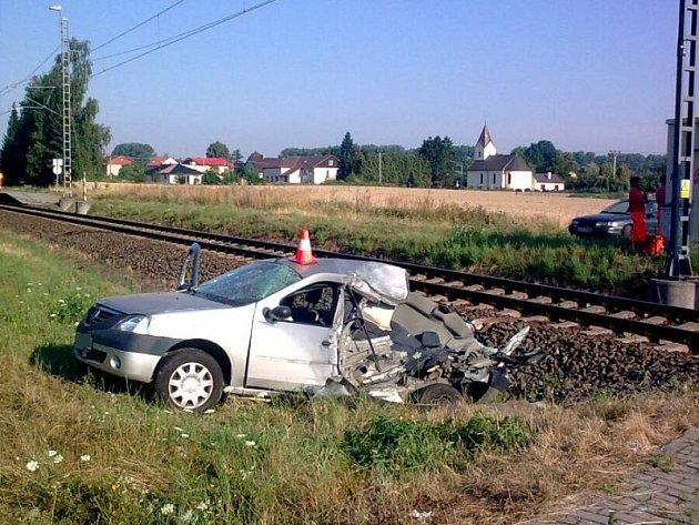 Pondělní nehoda v Háji ve Slezsku-Lhotě.
