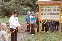 Arboretum slavnostně otevřela ředitelka Blanka Váňová.