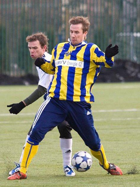 Aleš Chmelíček odehrál proti Lískovci poločas a dvakrát se zapsal mezi střelce.