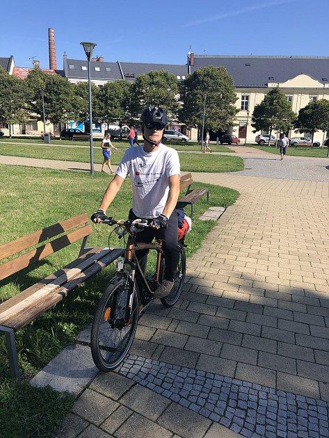 Jednou ze zastávek polského youtubera Marcina Kuzmaka byla také Opava. Foto: Deník/Roman Brhel
