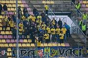 Příbram - Zápas 14. kola Fortuna národní ligy FK Příbram - SFC Opava 4. listopadu 2017 v Příbrami. Fanoušci SFC Opava