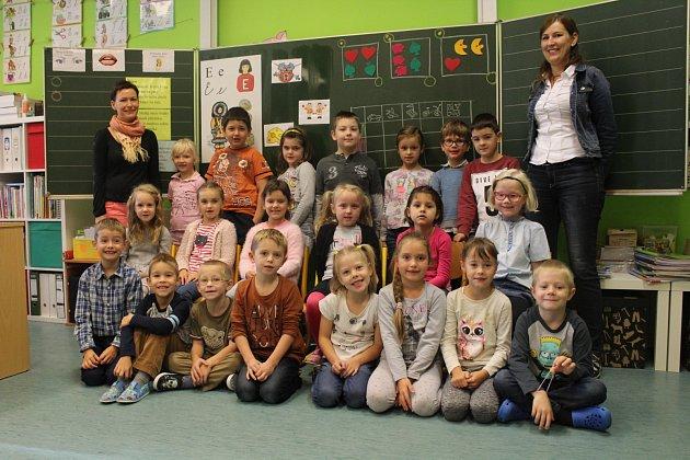 Žáci ze ZŠ Edvarda Beneše vOpavě, třída I.B
