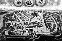 Olejomalba zachycuje celkový pohled na město Opavu kolem roku 1689.