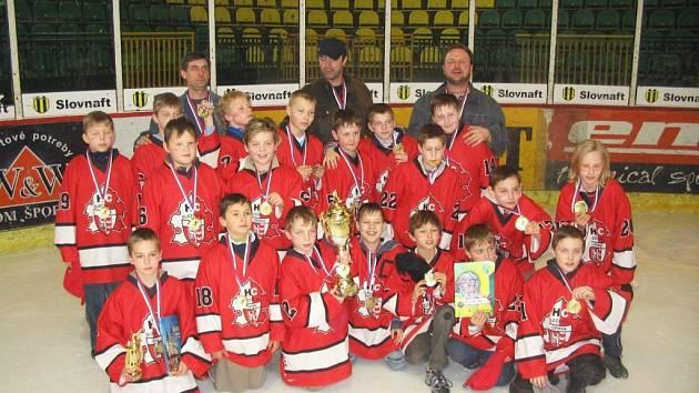 Vítězný opavský tým hokejistů čtvrté třídy