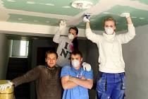 Studenti třetího ročníku opavské stavebky, kteří utvořili historicky první skupinu místních mladých talentů, jež se zapojila do projektu s názvem Leonardo.