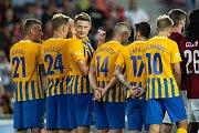 Zápas 1. kola FORTUNA:LIGY mezi AC Sparta Praha a SFC Opava 21. července 2018 v Generali areně v Praze. Dominik SImerský - o.