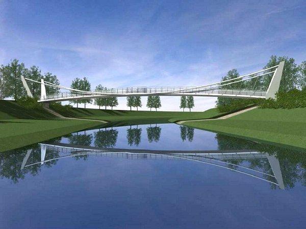 Vprojektu je navržena lávka přes řeku Opavu, která umožní propojení tohoto území sMěstskými sady.