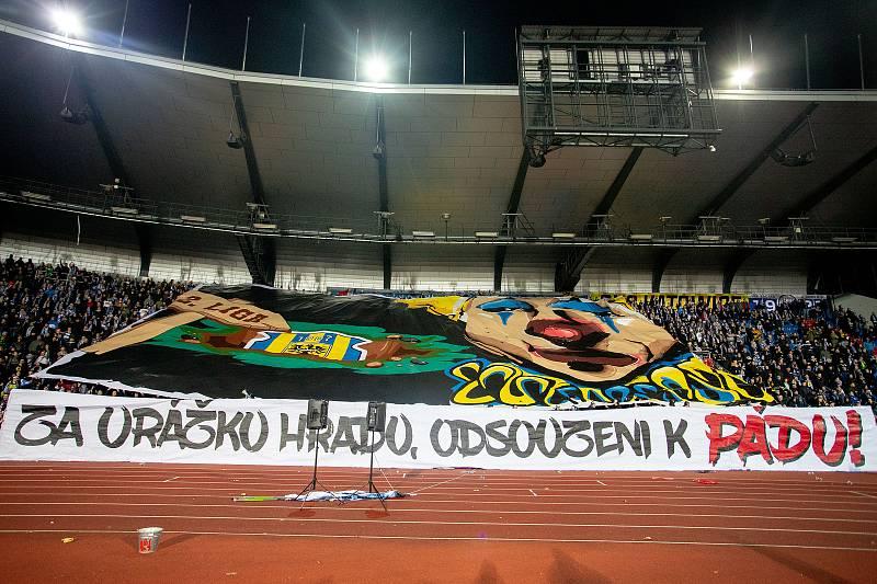 Utkání 18. kola fotbalové Fortuna ligy: FC Baník Ostrava - SFC Opava, 29. listopadu 2019 v Ostravě. Na snímku fanoušci.