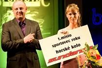 Lucie Vinárková při vyhlašování ankety Sportovec roku 2011.