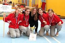 Tým gymnastek ze Slezského gymnázia si do Opavy přivezl pomyslné stříbro.