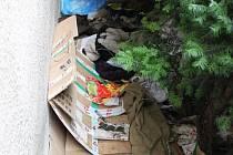 """V úterý dopoledne vypadalo """"lůžko"""" bezdomovce stále tak, jakoby právě vstal a odešel."""
