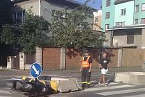 Nedělní dopravní nehoda v Kateřinkách.