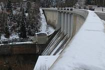 Kružberská přehrada a okolí.