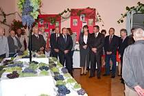 Na osmnáctém ročníku Výstavy hroznů Slezska bylo o víkendu na zámku ve Velkých Hošticích prezentováno rekordních 402 vzorků hroznů.