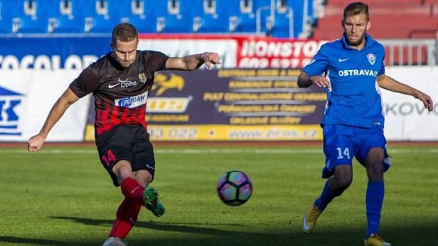 MFK Vítkovice – Slezský FC Opava 0:1 (Jan Schaffartzik střílí jedinou branku zápasu)