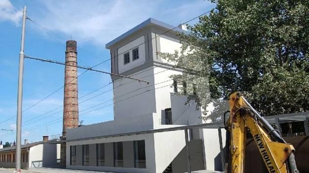 Takto by mohla v budoucnu vypadat zrekonstruovaná a opravená vodárenská věž v areálu opavského Východního nádraží.