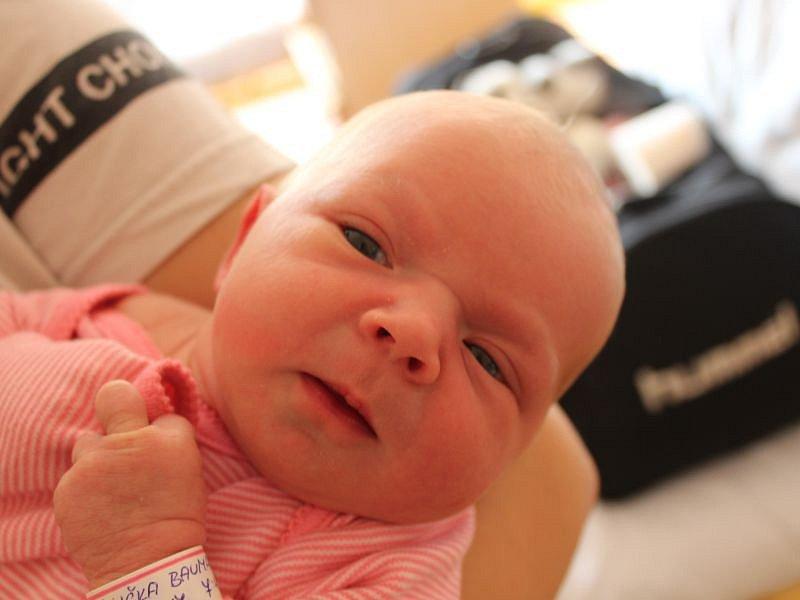 Eliška Baumannová se narodila 24. září, vážila 2,92 kilogramů a měřila 47 centimetrů. Rodiče  Natálie a Lukáš z Opavy jí do života přejí mnoho zdraví a štěstí. Na Elišku už doma čeká brácha Daniel.