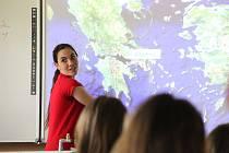 Stella Vatopoulou seznamovala žáky se svým rodným Řeckem.