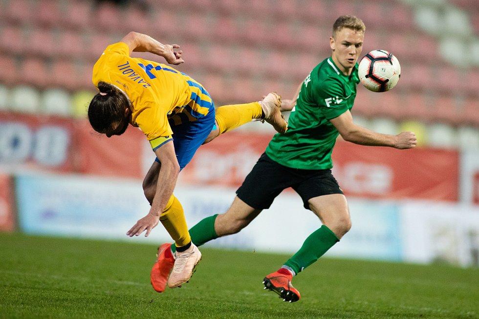 Zápas FORTUNA:LIGY mezi 1. FK Příbram a SFC Opava 5. dubna 2019. Pavel Zavadil (SFC Opava).