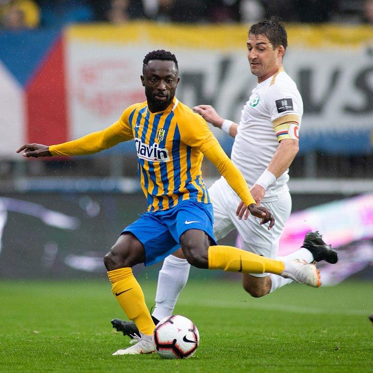 Zápas 13. kola fotbalové FORTUNA:LIGY mezi SFC Opava a 1. FK Příbram