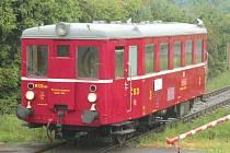 Historický vlak sveze návštěvníky výstavy.