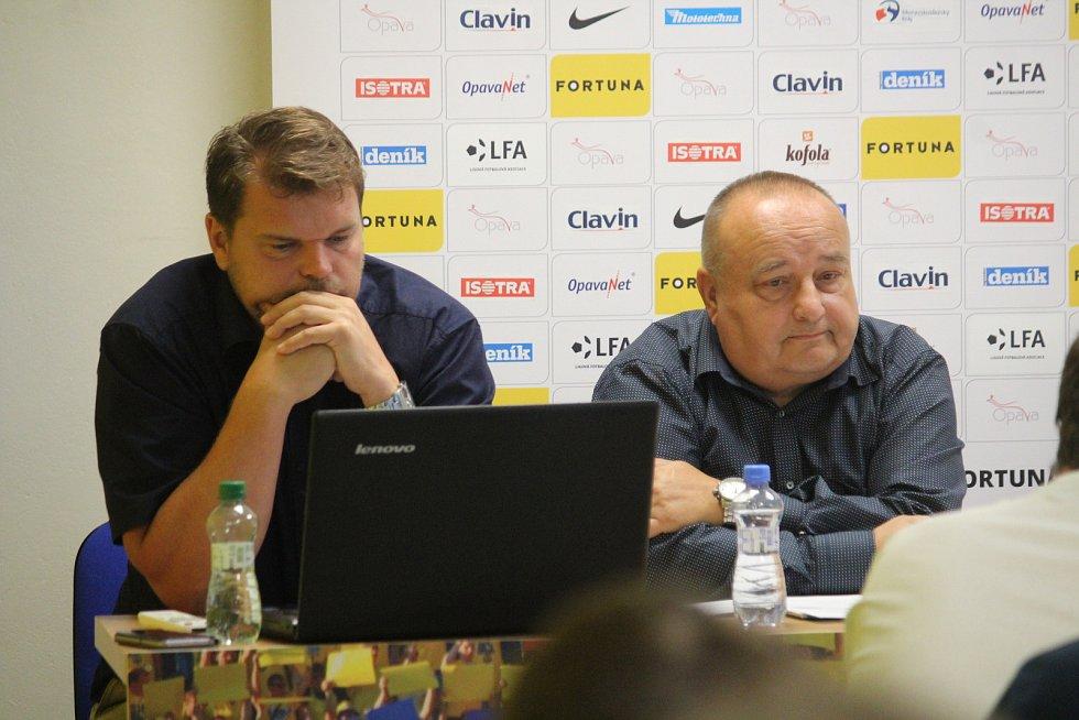 Tisková konference SFC Opava, 4. září 2019.