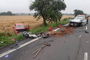 Hasiči a další složky zasahovali v úterý 21. července ráno u dopravní nehoda dvou automobilů v Dolním Benešově na Opavsku.