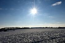 Zima na Hlučínsku.