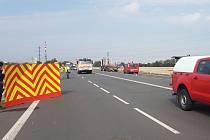 Místo tragické dopravní nehody v Opavě.