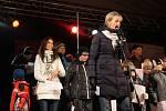 Dobrá nálada panovala ve středu večer na Dolním náměstí v Opavě, kde naše redakce pořádala ojedinělou akci s názvem Česko zpívá koledy.
