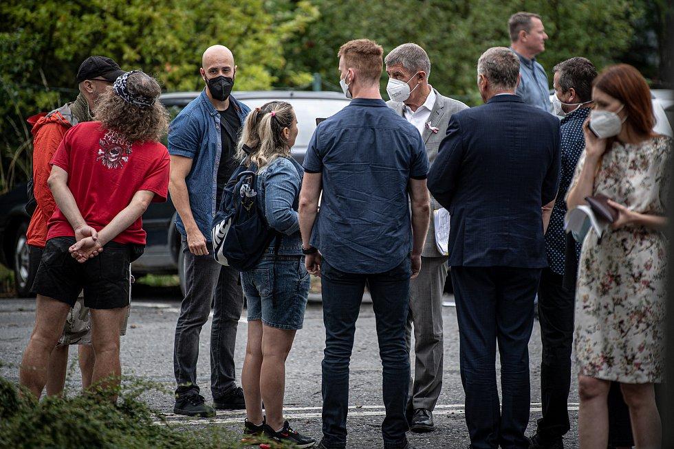 Do Vítkova na Opavsku dorazil mobilní očkovací tým, který nabízí zájemcům očkování proti covidu-19 bez předchozí registrace, 4. srpna 2021.