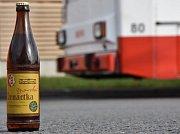 Pivní sklenice je záměrně pojata v retrostylu. Vzhled etikety byl  inspirován původním provedením etikety opavského výčepního piva Zlatovar z 80. let 20. století.