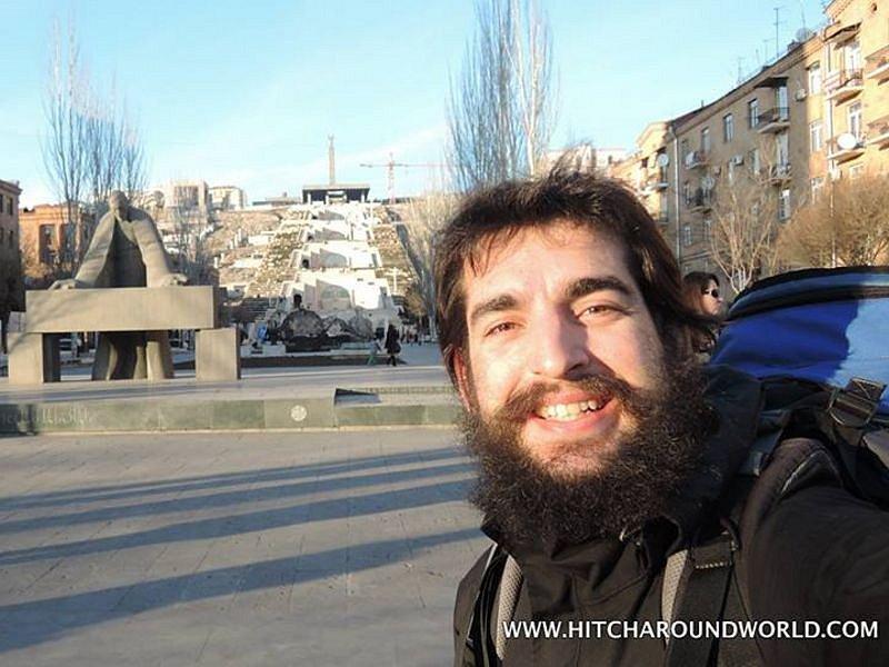 Pavel Klega se momentálně nachází v hlavním městě Arménie Jerevanu.