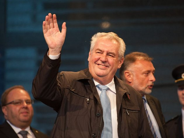 Prezident Miloš Zeman v pondělí 10. listopadu na návštěvě Havířova.