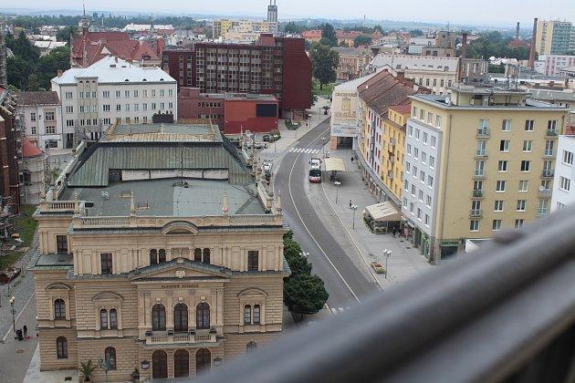 Opavská radniční věž Hláska.