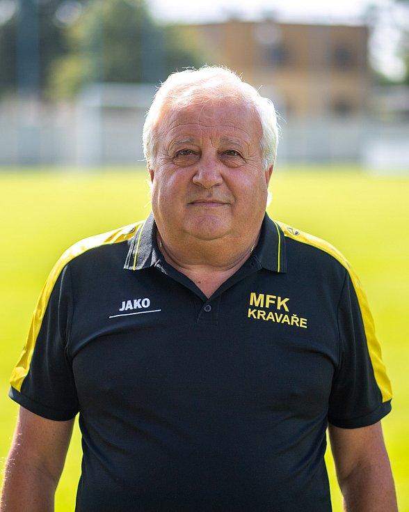 Fotbalový klub MFK Kravaře. 25 července 2020 v Kravařích. Karel Štěpán, trenér.