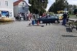 Nehoda na Ostravské ulici v Hlučíně.